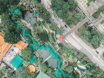 Εναέρια άποψη ενός πάρκου του Χονγκ Κονγκ Στοκ φωτογραφία με δικαίωμα ελεύθερης χρήσης