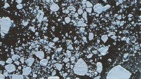 Εναέρια άποψη επιφάνειας βόρειου ανταρκτική ανοικτή νερού απόθεμα βίντεο