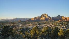Εναέρια άποψη ηλιοβασιλέματος του βουνού λόφων Capitol απόθεμα βίντεο