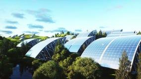 Εναέρια άποψη ηλιακών πλαισίων Φύση Wonderfull Μέλλον Ρεαλιστική 4K ζωτικότητα απόθεμα βίντεο