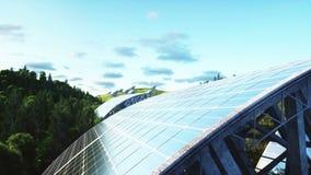 Εναέρια άποψη ηλιακών πλαισίων Φύση Wonderfull Μέλλον Ρεαλιστική 4K ζωτικότητα φιλμ μικρού μήκους