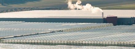 Εναέρια άποψη θερμοκηπίων Στοκ Εικόνα