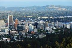Εναέρια άποψη κέντρο πόλεων του Πόρτλαντ, Όρεγκον στοκ εικόνα