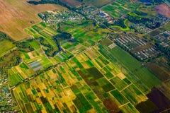 Εναέρια άποψη καλλιεργήσιμου εδάφους στο φθινόπωρο Στοκ φωτογραφίες με δικαίωμα ελεύθερης χρήσης