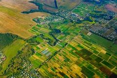 Εναέρια άποψη καλλιεργήσιμου εδάφους στο φθινόπωρο Στοκ εικόνες με δικαίωμα ελεύθερης χρήσης