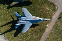 Εναέρια άποψη κηφήνων σχετικά με τη στρατιωτική αεροπορική βάση Στοκ φωτογραφίες με δικαίωμα ελεύθερης χρήσης