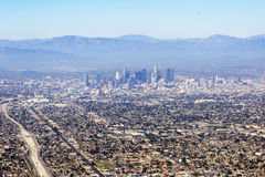 Εναέρια άποψη Λος Άντζελες στις Ηνωμένες Πολιτείες στοκ εικόνα