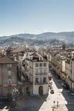 Εναέρια άποψη μέσω Po στο Τορίνο, Ιταλία Στοκ Φωτογραφία