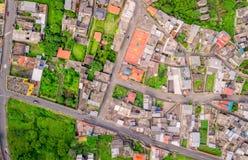 Εναέρια άποψη με τις οδούς σε Banos, Ισημερινός Στοκ εικόνες με δικαίωμα ελεύθερης χρήσης