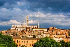 Εναέρια άποψη με το Di Σιένα Duomo Στοκ φωτογραφία με δικαίωμα ελεύθερης χρήσης