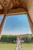 Εναέρια άποψη με το Ponte Sant Angelo Στοκ φωτογραφία με δικαίωμα ελεύθερης χρήσης