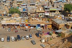 Εναέρια άποψη μιας αγοράς Jaisalmer Στοκ φωτογραφίες με δικαίωμα ελεύθερης χρήσης