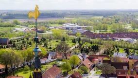 Εναέρια άποψη μιας αγροτικής ευρωπαϊκής πόλης Στοκ φωτογραφία με δικαίωμα ελεύθερης χρήσης