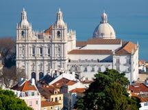 Εναέρια άποψη μοναστηριών του Vicente Σάο, Λισσαβώνα, Πορτογαλία στοκ φωτογραφία