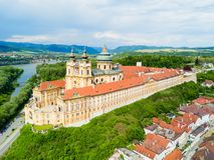 Εναέρια άποψη μοναστηριών Melk στοκ εικόνα