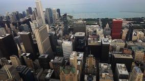 Εναέρια άποψη ορίζοντας του Σικάγου, Ιλλινόις απόθεμα βίντεο