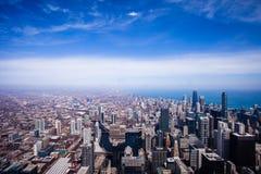 Εναέρια άποψη οριζόντων του Σικάγου Στοκ Εικόνα