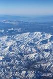 Εναέρια άποψη πέρα από τα βουνά Zagros, Ιράν Στοκ Φωτογραφίες