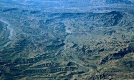 Εναέρια άποψη πέρα από τα βουνά Zagros, Ιράν Στοκ Φωτογραφία