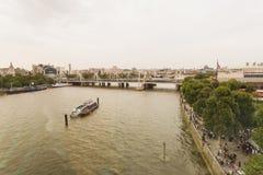 Εναέρια άποψη πέρα από τον ποταμό Τάμεσης Στοκ Εικόνα