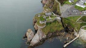 Εναέρια άποψη πέρα από το οχυρό Dunree στην Ιρλανδία απόθεμα βίντεο