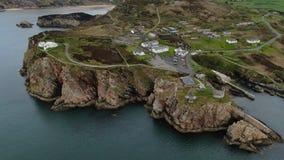 Εναέρια άποψη πέρα από το οχυρό Dunree στην Ιρλανδία φιλμ μικρού μήκους