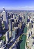 Εναέρια άποψη πανοράματος οριζόντων του Σικάγου στοκ εικόνα με δικαίωμα ελεύθερης χρήσης