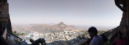 Εναέρια άποψη πανοράματος του βουνού στοκ εικόνα