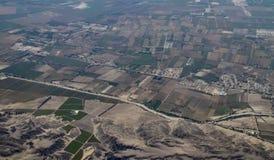 Εναέρια άποψη περουβιανά αγροκτήματα στοκ φωτογραφία με δικαίωμα ελεύθερης χρήσης