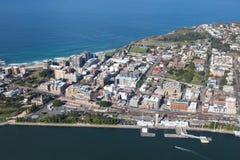 Εναέρια άποψη πόλεων του Νιουκάσλ - Νιουκάσλ NSW Αυστραλία στοκ φωτογραφία