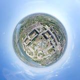 Εναέρια άποψη πόλεων - λίγος τρόπος πλανητών Στοκ εικόνα με δικαίωμα ελεύθερης χρήσης
