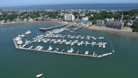 Εναέρια άποψη πόλεων της Βοστώνης φιλμ μικρού μήκους