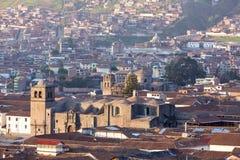 Εναέρια άποψη πόλεων Cusco σχετικά με Plaza de Armas, Περού Στοκ εικόνα με δικαίωμα ελεύθερης χρήσης