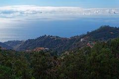 Εναέρια άποψη στην ακτή της Μαδέρας από Camacha στοκ εικόνα με δικαίωμα ελεύθερης χρήσης