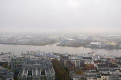 Εναέρια άποψη στην πόλη του Αμβούργο r στοκ φωτογραφία
