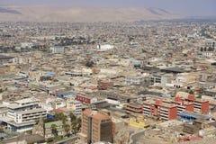 Εναέρια άποψη στην πόλη Arica από το λόφο EL Morro, Χιλή Στοκ Εικόνες