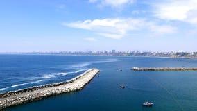 Εναέρια άποψη στον της Λίμα κόλπο από Chorrillos στοκ φωτογραφίες με δικαίωμα ελεύθερης χρήσης