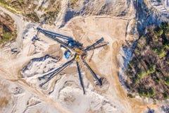 Εναέρια άποψη στο ανοικτό ορυχείο στοκ εικόνες