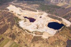 Εναέρια άποψη στο ανοικτό ορυχείο στοκ φωτογραφία