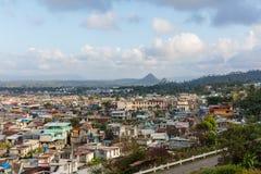 Εναέρια άποψη σχετικά με το baracoa και τη θάλασσα Κούβα στοκ φωτογραφίες