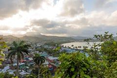 Εναέρια άποψη σχετικά με το baracoa και τη θάλασσα Κούβα στοκ φωτογραφίες με δικαίωμα ελεύθερης χρήσης