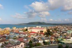Εναέρια άποψη σχετικά με το baracoa και τη θάλασσα Κούβα στοκ εικόνες με δικαίωμα ελεύθερης χρήσης
