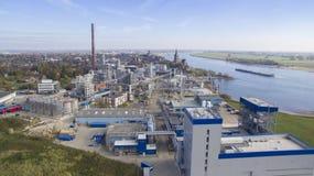 Εναέρια άποψη σχετικά με oleochemical τη βιομηχανία στοκ φωτογραφία