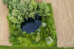 Εναέρια άποψη της αγροτικής γης Στοκ εικόνες με δικαίωμα ελεύθερης χρήσης
