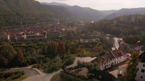 Εναέρια άποψη της ακρόπολης Cetatuia de pe Staja φιλμ μικρού μήκους