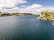Εναέρια άποψη της ακτής μεταξύ Gallanach και Oban, Argyll Στοκ φωτογραφία με δικαίωμα ελεύθερης χρήσης