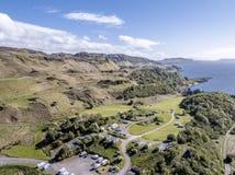 Εναέρια άποψη της ακτής μεταξύ Gallanach και Oban, Argyll Στοκ εικόνα με δικαίωμα ελεύθερης χρήσης