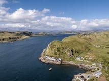 Εναέρια άποψη της ακτής μεταξύ Gallanach και Oban, Argyll Στοκ Εικόνες