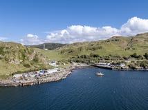 Εναέρια άποψη της ακτής μεταξύ Gallanach και Oban, Argyll Στοκ Φωτογραφία