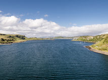 Εναέρια άποψη της ακτής μεταξύ Gallanach και Oban, Argyll Στοκ εικόνες με δικαίωμα ελεύθερης χρήσης